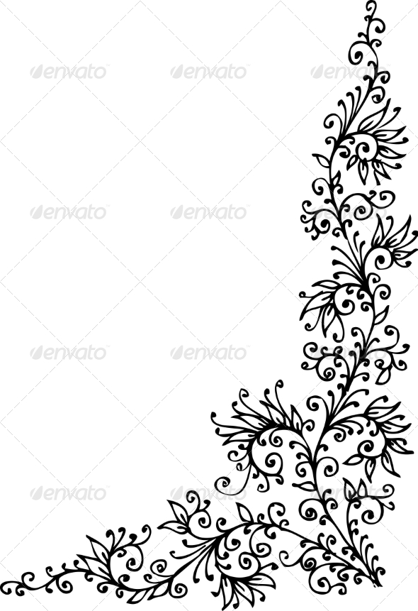 Floral Vignette CCCXLVIII - Decorative Symbols Decorative