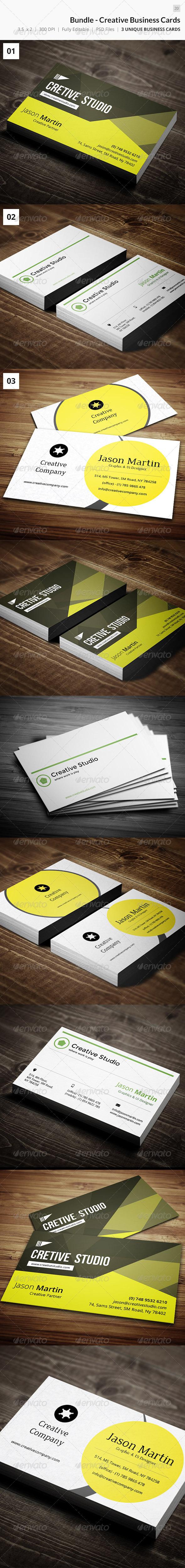Bundle - Creative Business Cards 20 - Creative Business Cards