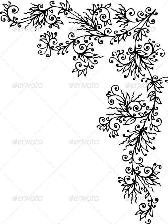 Floral Vignette CCCL - Decorative Symbols Decorative