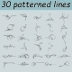 30 Patterned Lines - GraphicRiver Item for Sale