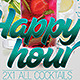 Happy Hour Cocktail - GraphicRiver Item for Sale