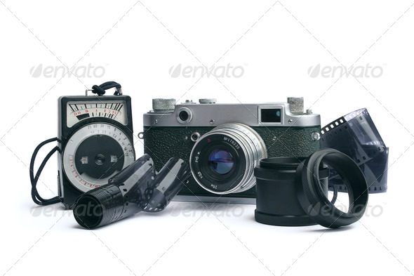 old camera  - 1950-1960 years - Stock Photo - Images