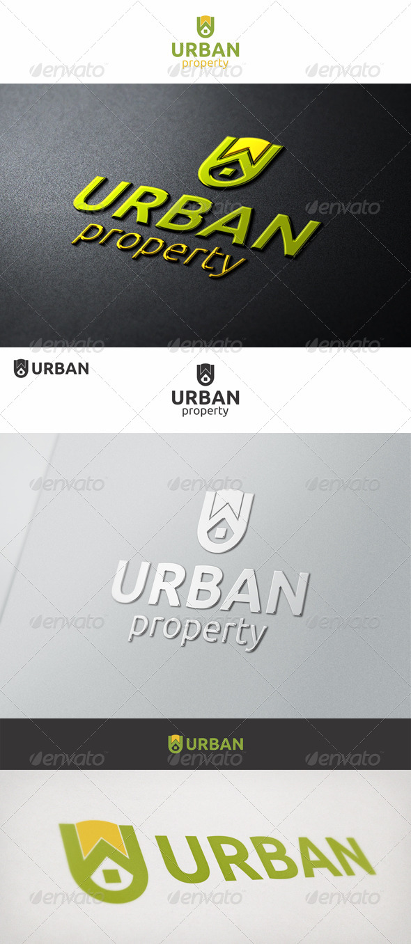 Urban Property U Logo - Buildings Logo Templates