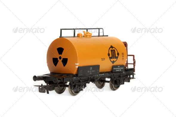 Breadboard model of the car of a train - Stock Photo - Images