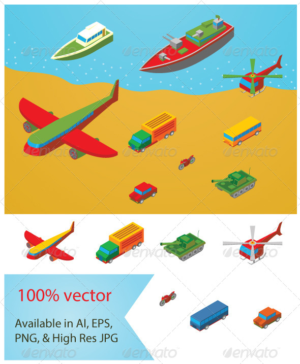 Isometric Transportation Collection - Industries Business