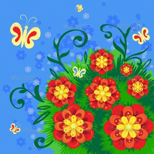 Abstract Flower Background - Flowers & Plants Nature