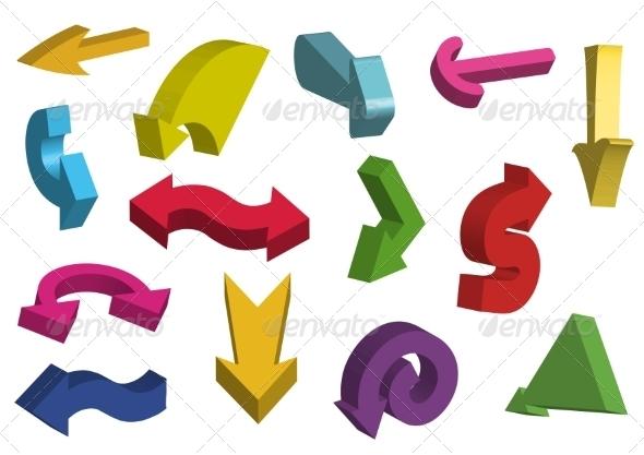 3D Arrows - Decorative Symbols Decorative