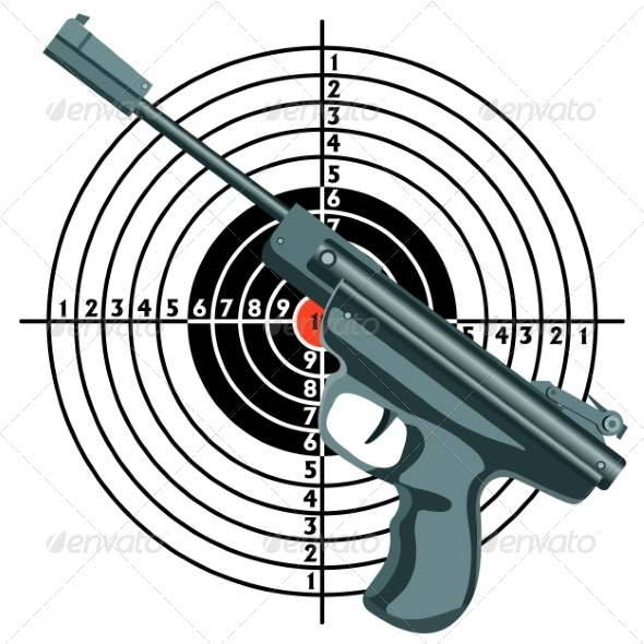 Gun Against the Target - Sports/Activity Conceptual
