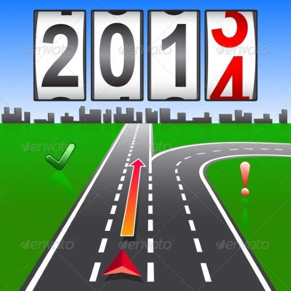 2014 New Year Counter - Web Elements Vectors