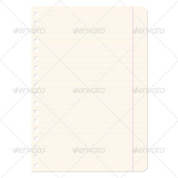Blank Sheet of Paper - Web Elements Vectors