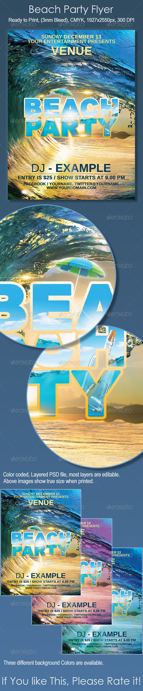 Beach Party Flyer - Print Templates