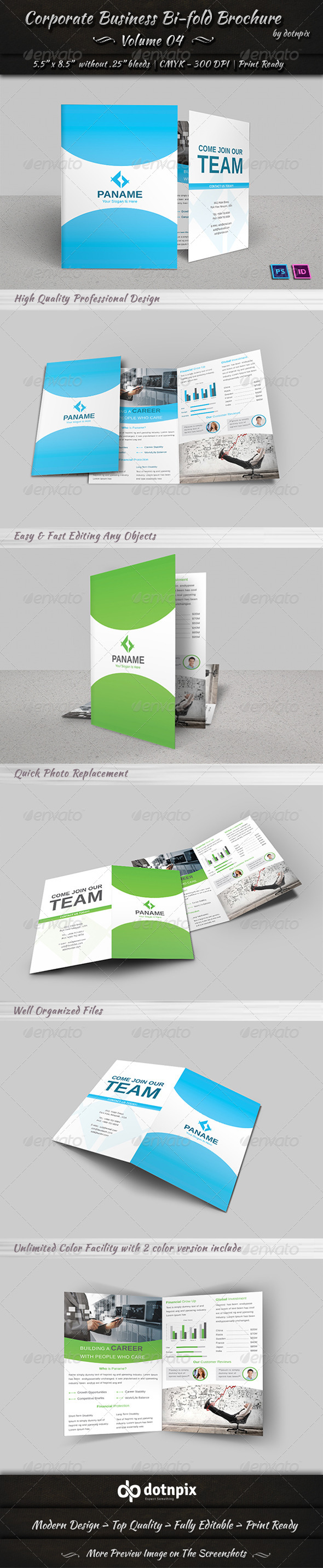 Corporate Business Bi-Fold Brochure | Volume 4 - Corporate Brochures