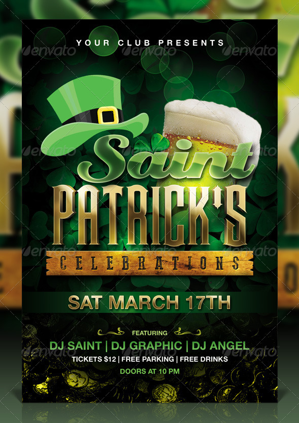 St. Patrick's Day Celebration Flyer - Events Flyers