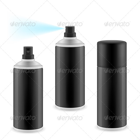 Black Spray Cans - Miscellaneous Vectors