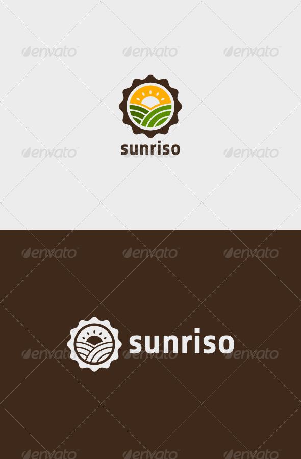 Farm Sunriso Logo - Nature Logo Templates