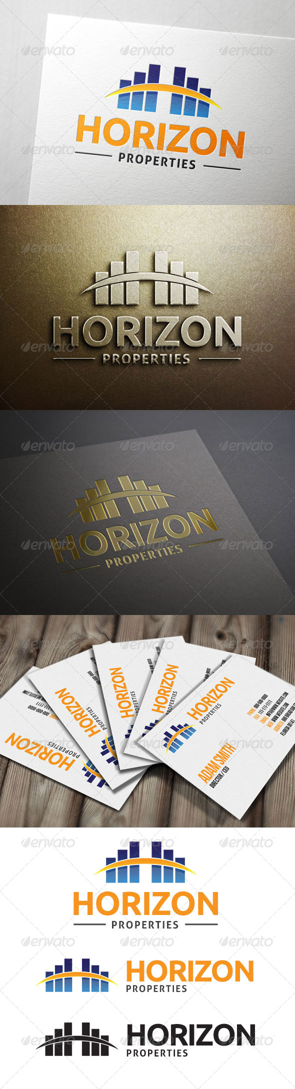 Horizon Properties Logo  - Buildings Logo Templates