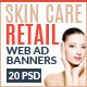 Skin Care Retail Web Ad Marketing Banners - GraphicRiver Item for Sale