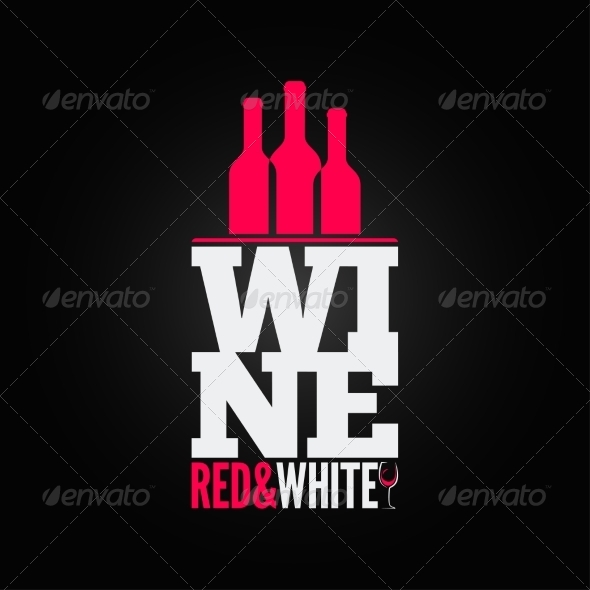 Wine Bottle Glass Design Menu Background - Food Objects