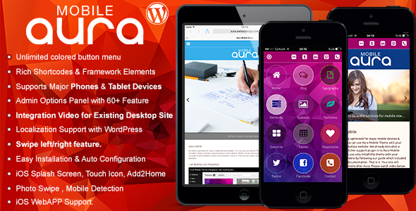 Aura Premium Mobile Theme - Mobile WordPress