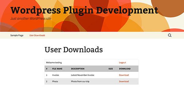 Wordpress File Download Manager