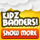 Kids Banners Set - GraphicRiver Item for Sale