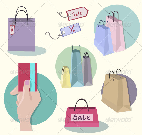 Shopping Icons - Objects Vectors
