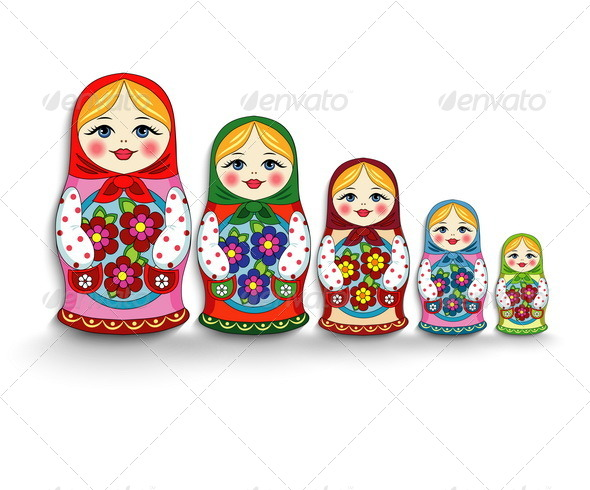 Russian Doll Matryoshka - Decorative Vectors