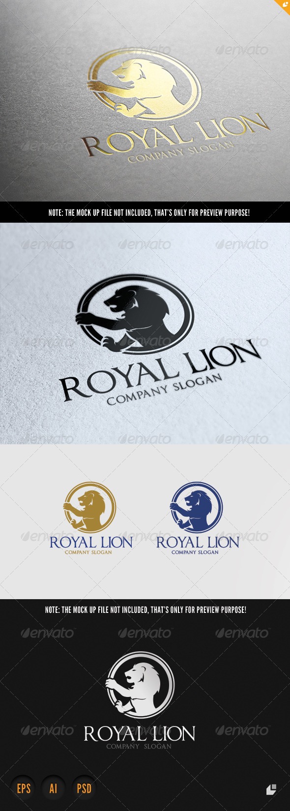 Lion Royal Brand - Crests Logo Templates