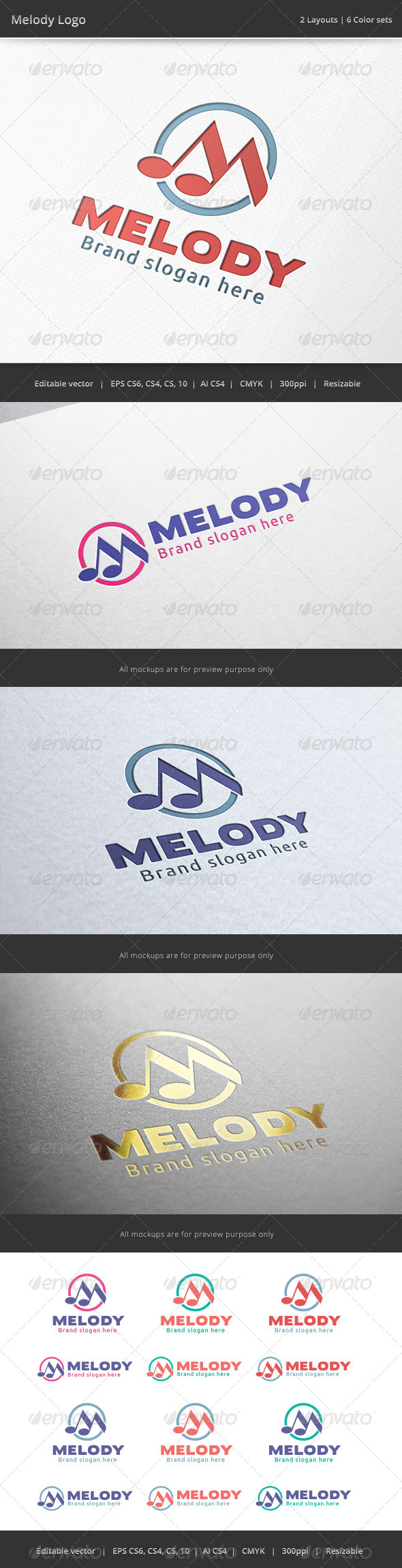 Melody Music Logo - Symbols Logo Templates