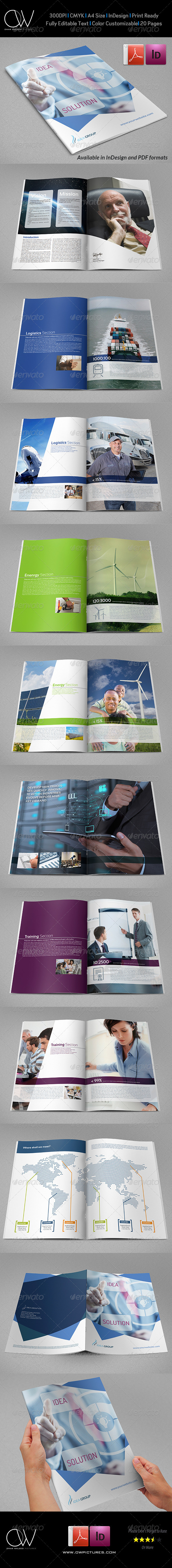 Corporate Brochure Template Vol.28 - 20 Pages - Corporate Brochures