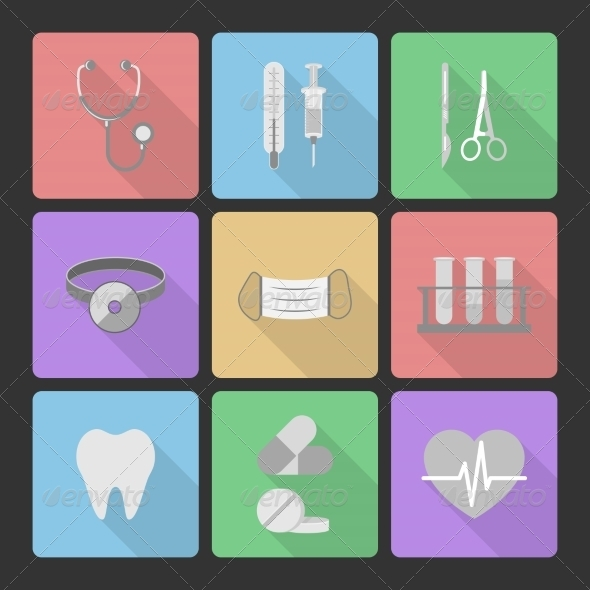 Medical Icons Set - Web Elements Vectors