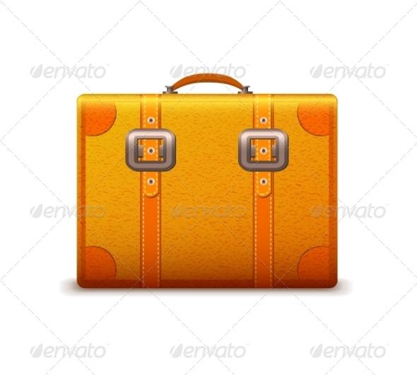 Travel Suitcase Emblem - Travel Conceptual