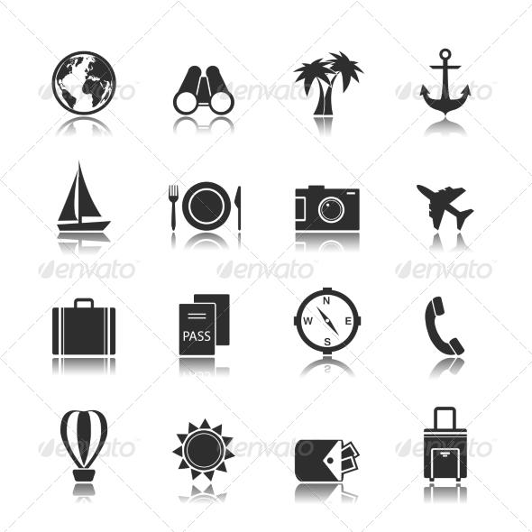 Tourism Travel Interface Elements - Travel Conceptual