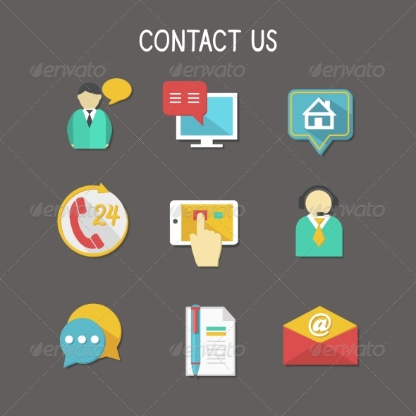 Contact Us Icons - Business Icons