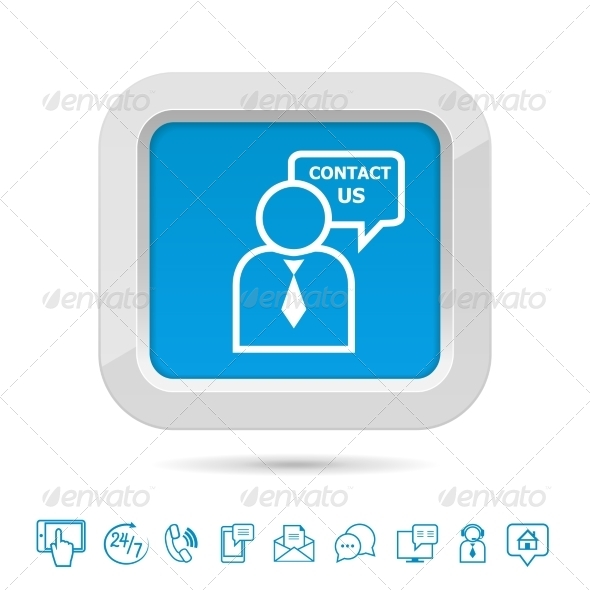 Contact Us Button Template - Concepts Business