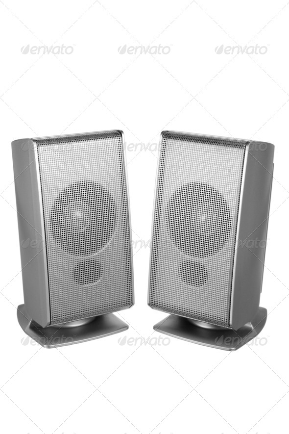 Desktop Speakers - Stock Photo - Images