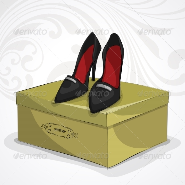 Classic Woman's Leather Black Shoes - Retail Commercial / Shopping