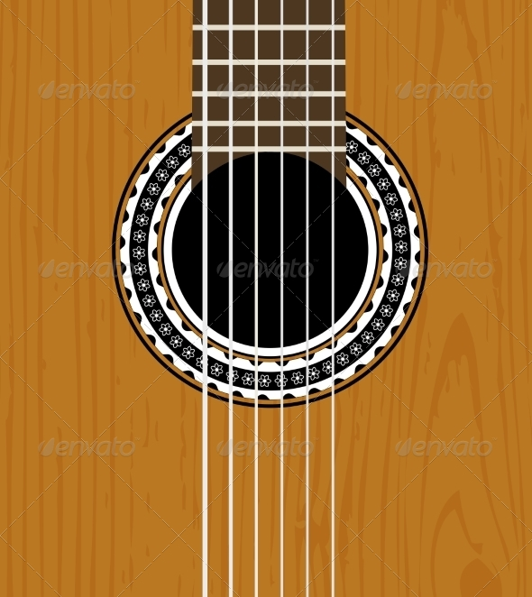 Guitar Sound Hole Background - Man-made Objects Objects