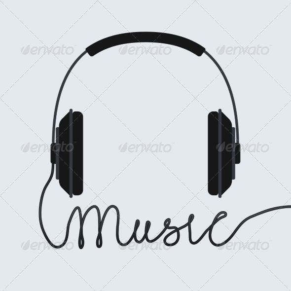 Music Headphone Icon - Media Technology