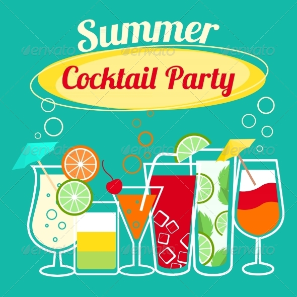 Summer Cocktails Party Template - Miscellaneous Seasons/Holidays