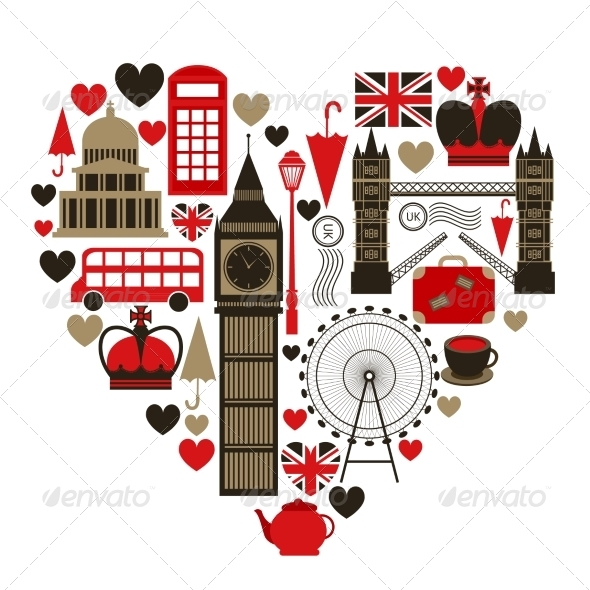 Love London Heart Symbol - Travel Conceptual