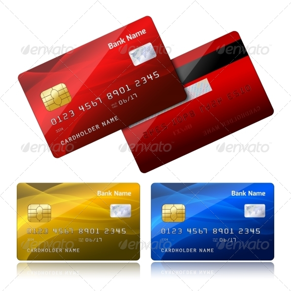 Realistic Credit Card with Security Chip - Retail Commercial / Shopping
