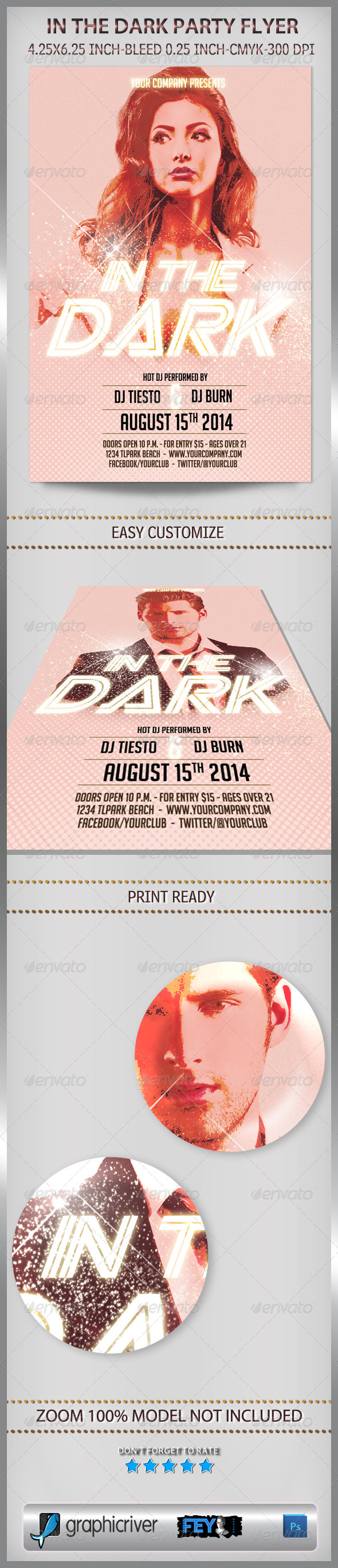 In The Dark Party Flyer - Clubs & Parties Events