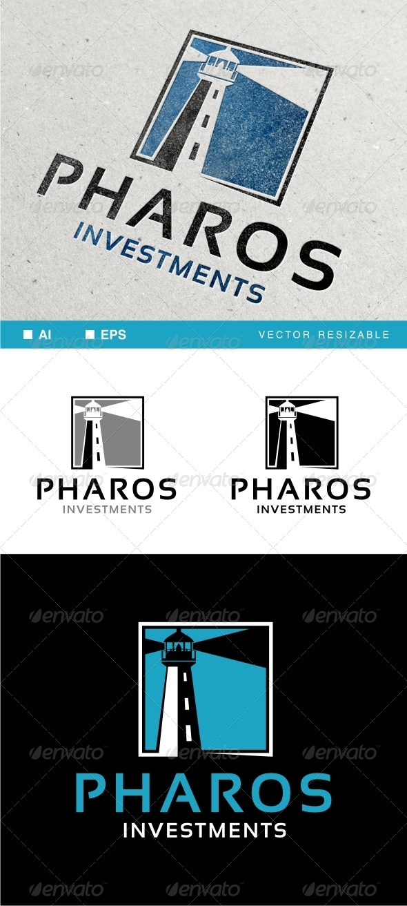 Pharos Logo Template - Buildings Logo Templates