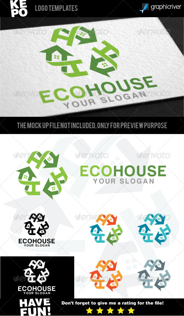 Eco House - Symbols Logo Templates