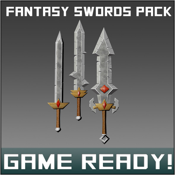 Fantasy Weapon Sword Pack - 3DOcean Item for Sale