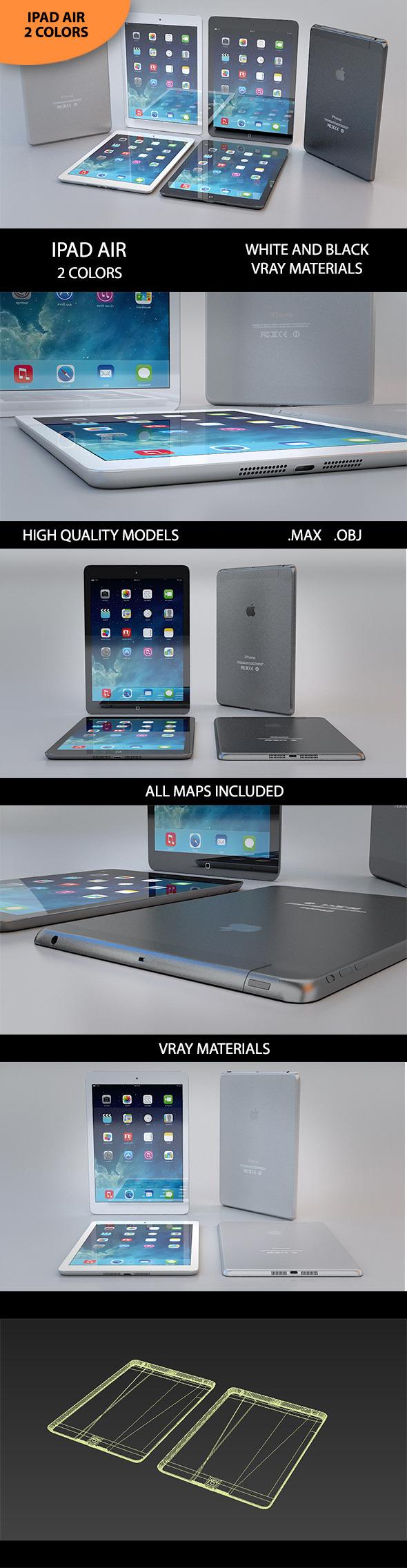 3D Ipad Air - 3DOcean Item for Sale