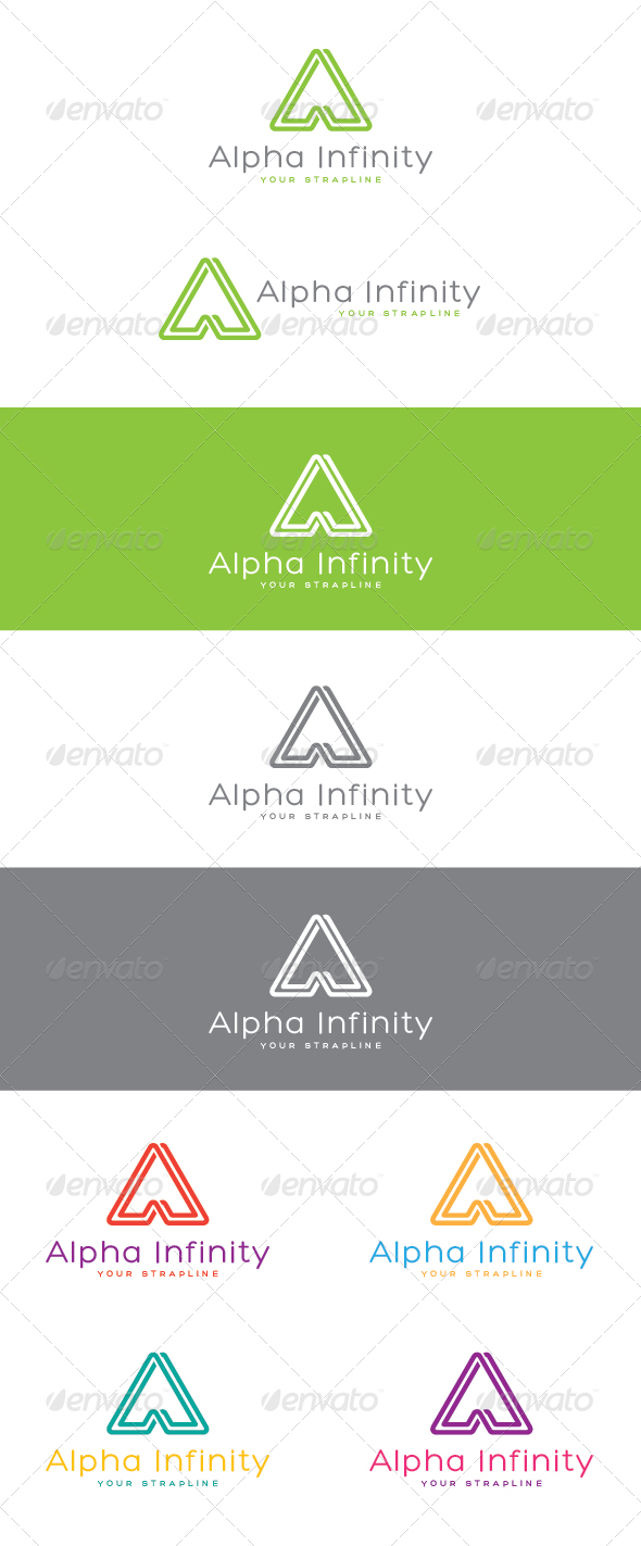 Alpha Infinity Letter A Logo - Letters Logo Templates