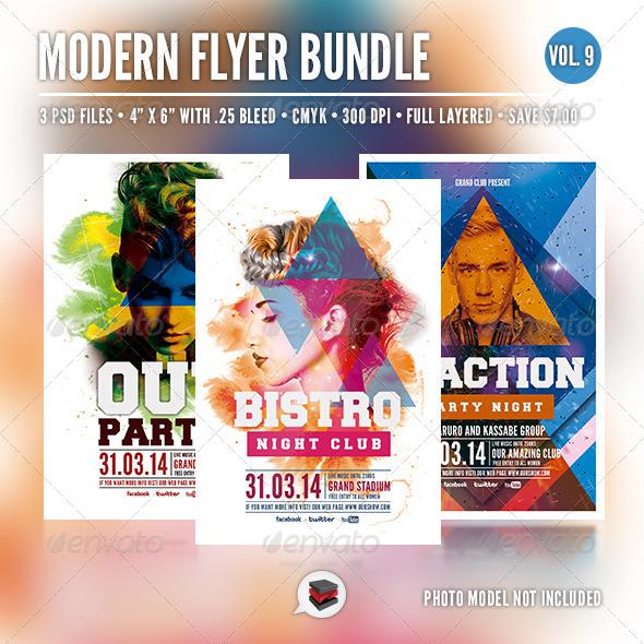 Modern Flyer Bundle Vol. 9 - Clubs & Parties Events