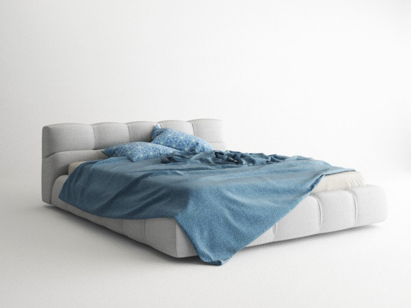 Bed Model + Materials - Vray for C4d - 3DOcean Item for Sale